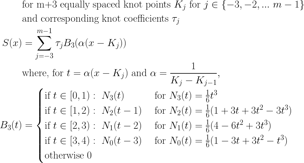 Putting Cubic B Splines Into Standard Polynomial Form Tool Monkey